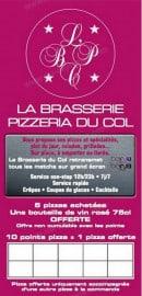 Menu Brasserie du Col - carte et menu Brasserie du Col Nice