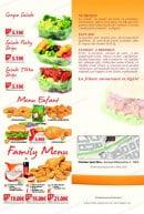Menu Chicken Spot - Les salades et autres