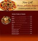 Menu New grill - les entrées froides et chaudes