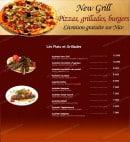 Menu New grill - les plats et grillades