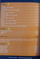 Menu Le CH9 - Paninis, snacking, menu enfant,...