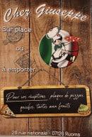 Menu Chez Giuseppe - Carte et menu Chez Giuseppe Ruoms