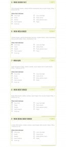 Menu Chicken Spot - Les menus express suite