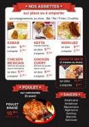 Menu La Braise D'Orient - Assiettes, poulets et sauces