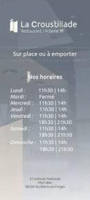 Menu La Croustillade - Informations