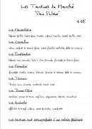 Menu Le Bis-Troquet - Les tartines du marché