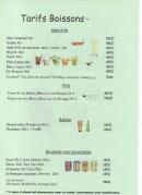 Menu Le Palais du Burger - Les boissons