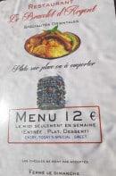 Menu Le Veritable Couscous Berbere - Le menu