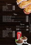 Menu Infiniment Pâtes - Les sandwiches, paninis, boissons et desserts