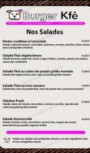 Menu Burger Kfé - Les salades