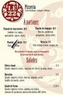 Menu Le 22 - Carte et menu Le 22 Arles