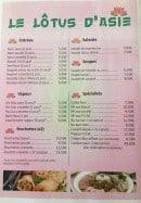 Menu Le Lôtus d'Asie - entrées, salades, soupes....