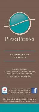Menu Pizza pasta - Carte et menu Pizza pasta Carnoux en Provence