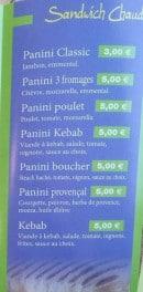 Menu Le Cigalou - Sandwiches chauds