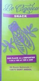 Menu Le Cigalou - Carte et menu Le Cigalou Saint Andiol