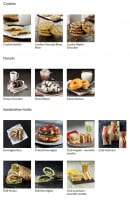 Menu Starbucks coffee - Les cookies, donuts et sandwiches froids