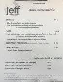 Menu Jeff - menu du jour