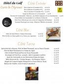 Menu L' Agrume - Les entrées et plats