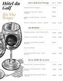 Menu L' Agrume - Les vins