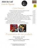 Menu L' Agrume - Les desserts