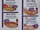 Menu Pat a Pizza - Les menus