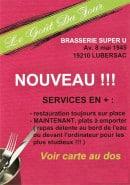 Menu Le Goût du jour - Carte et menu Le Goût du jour Lubersac
