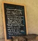 Menu U Turchinu - Exemple de menu