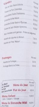 Menu Aux Vieux Pavés - les viandes et fromages