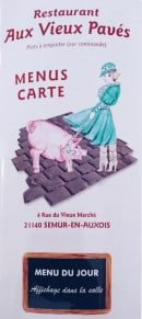Menu Aux Vieux Pavés - carte et menu Aux Vieux Pavés Semur en Auxois