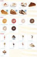 Menu Holly's diner - Les patries, donuts et ice creams