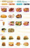 Menu Holly's diner - Les menus, burgers,...