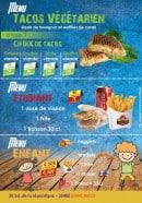 Menu Chicken Pack - Menus tacos végétariens, étudiants et enfants