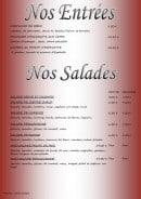 Menu Au Gré des Saisons - Entrées et salades
