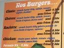 Menu Chez John - Burgers