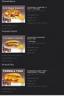 Menu Les Crocs'heures - La formule bacon,....