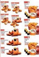 Menu Chez la famille food - Les crispy chicken, menus family et wings