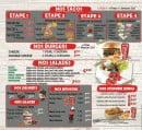 Menu Chez la famille food - Les tacos, burgers, salades...