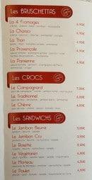 Menu Chez Stef - Bruschettas, crosc et sandwiches