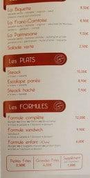Menu Chez Stef - Salades, plats et formules