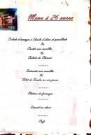 Menu Bar des Chineurs - Menu à 26€