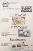 Menu Le café de la clairette - Ravioles, fromages et desserts