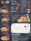 Menu Délices Pizza - Menus, boissons, desserts,....
