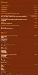 Menu Al Kasbah - les desserts et Menus