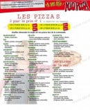 Menu Allo Pizza - les pizzas