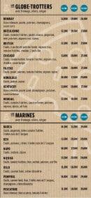 Menu Le Plazza Pizza - Les pizzas du monde et de la mer