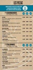 Menu Le Plazza Pizza - Les pizzas classiques