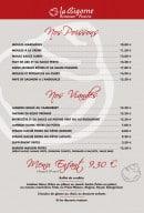 Menu La Bigorne - Les poissons et viandes