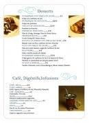 Menu La Pampa - Desserts, café, digestifs,....