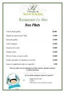 Menu Restaurant Le Mas - Les plats