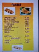 Menu Pizz'a Gimario - Les paninis